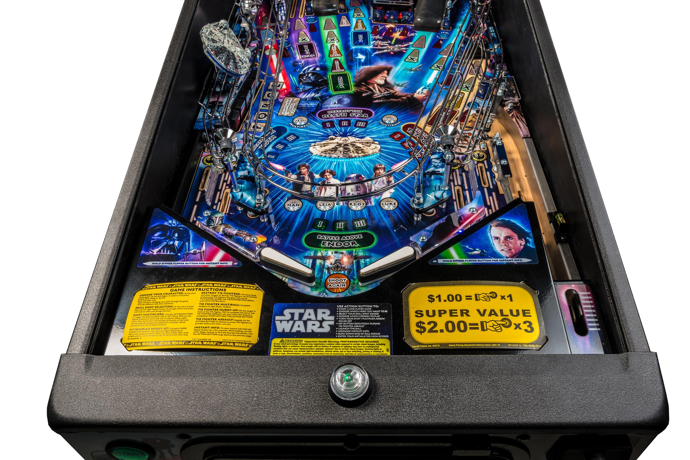 Star Wars Pinball Machine >> Star Wars Stern Pinball
