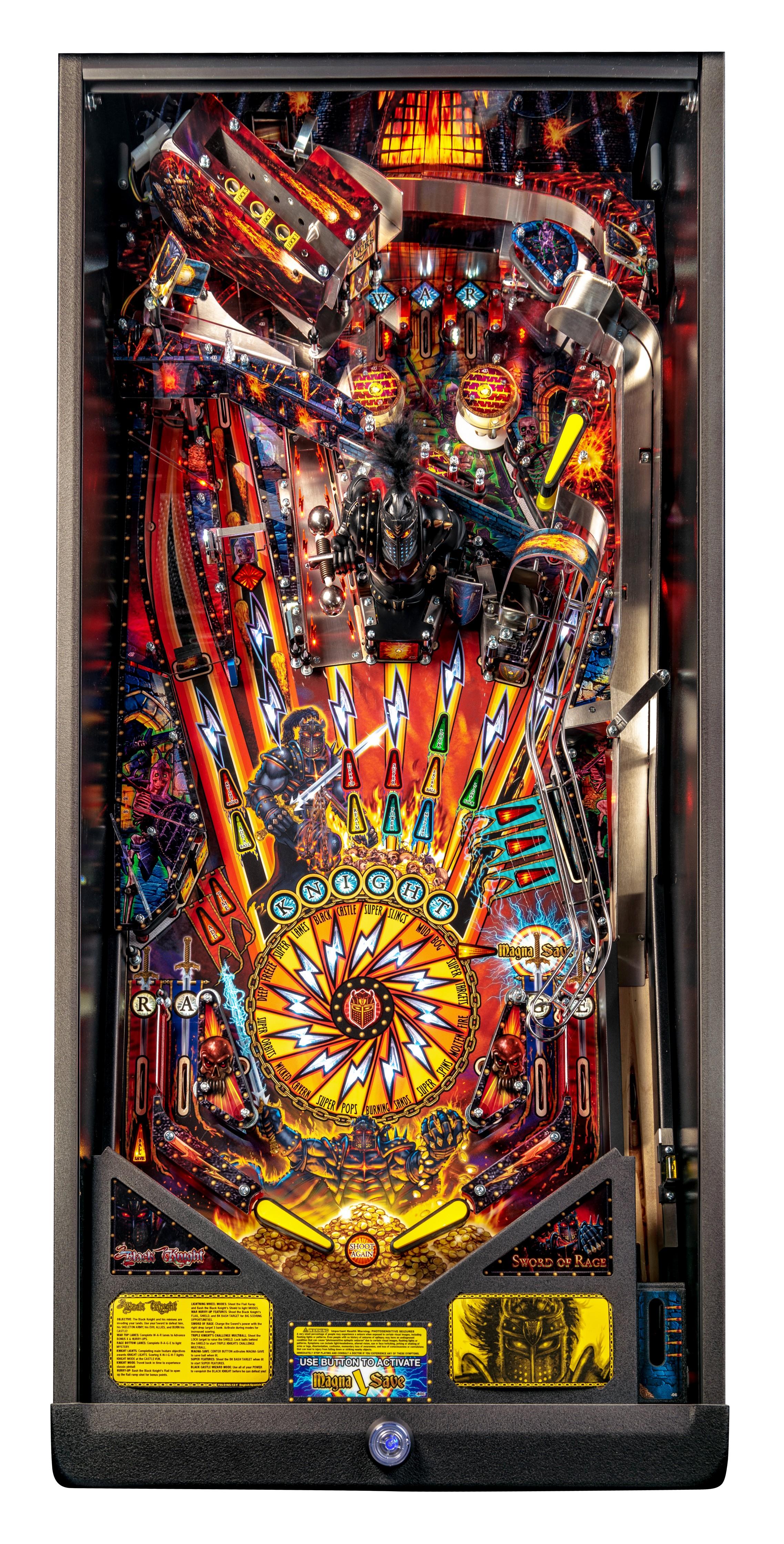 Williams Black Knight  Pinball Machine Drop Target Decal Set