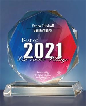 Stern Pinball Receives 2021 Best of Elk Grove Village Award