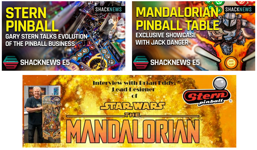 Stern Pinball July 2021 media interviews