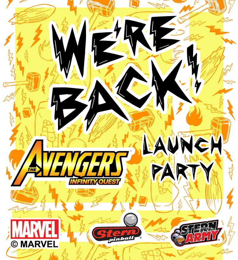 Avengers Infinity Quest Pinball Launch Party