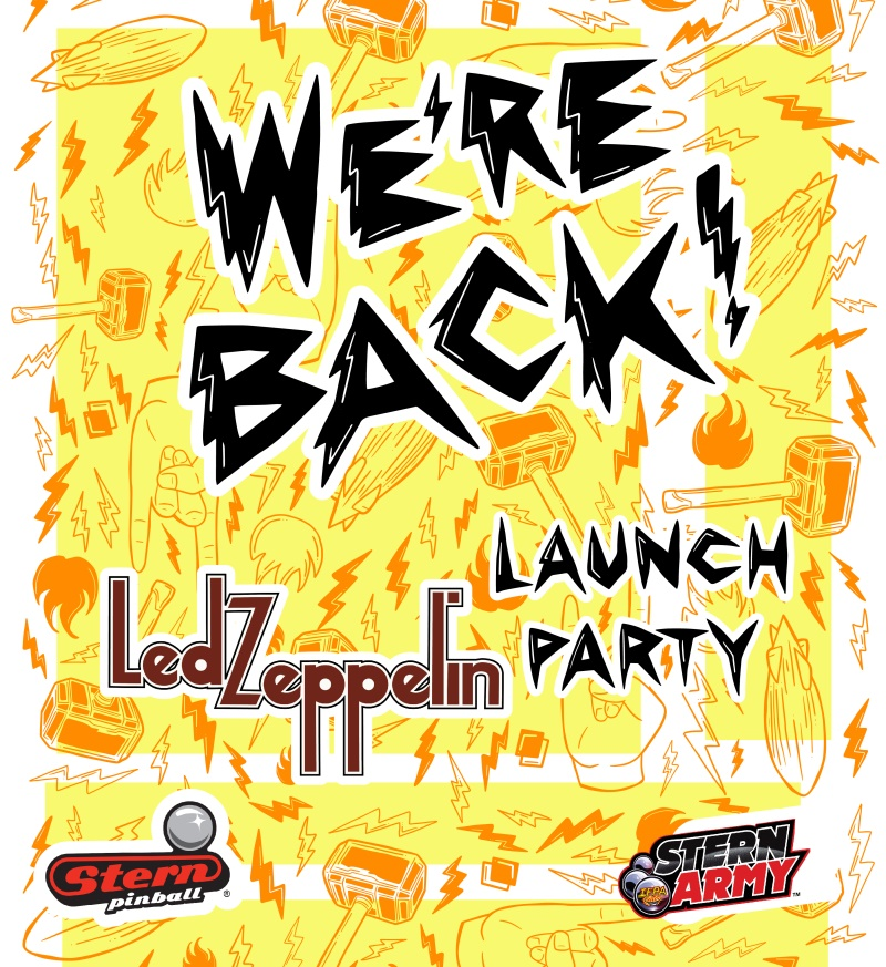 Led Zeppelin Pinball Launch Party
