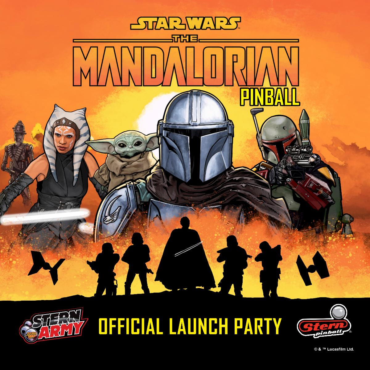 Official launch party for The Mandalorian Pinball