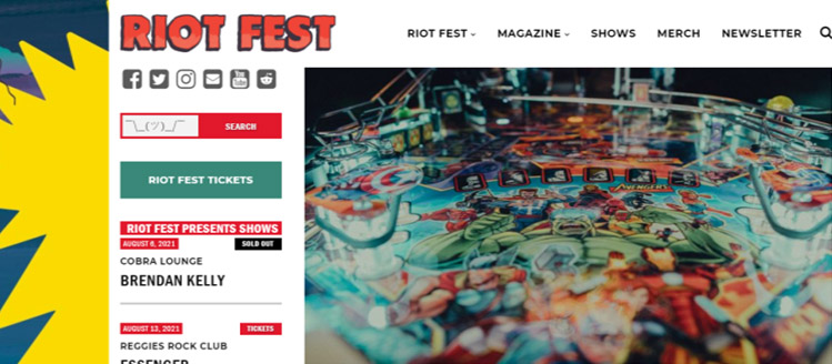 Riot Fest's interview with Stern Pinball